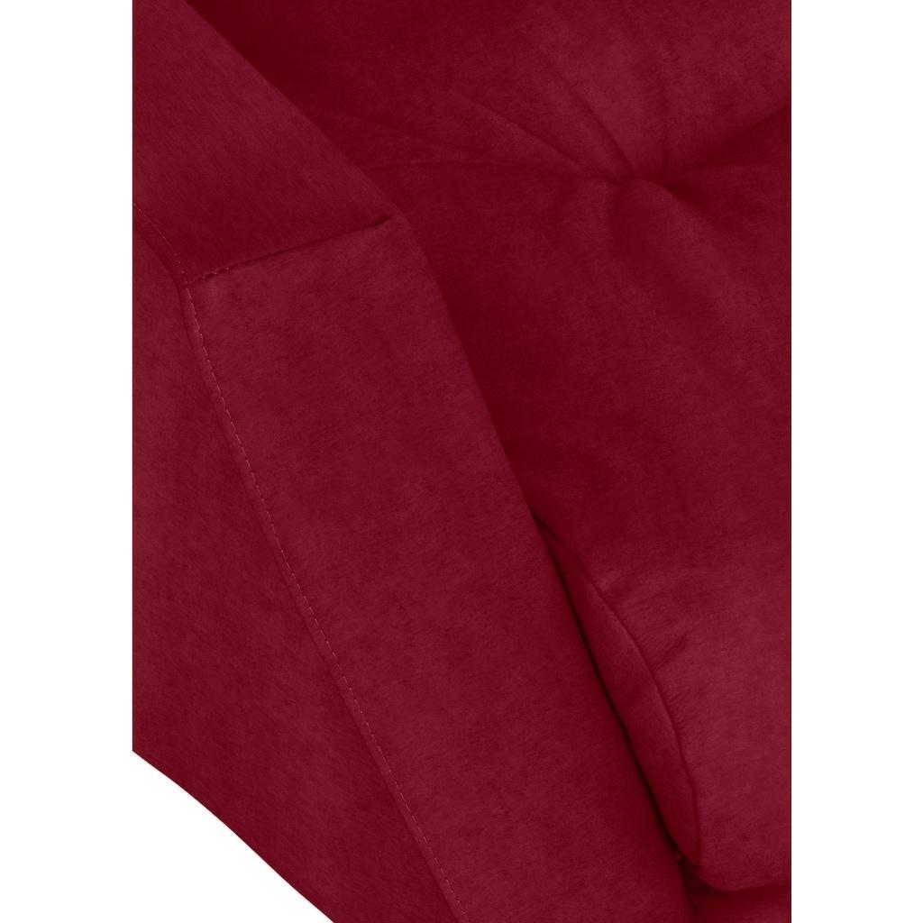 W.SCHILLIG Big-Sofa »softy«, mit dekorativer Heftung im Sitz, Füße Chrom glänzend