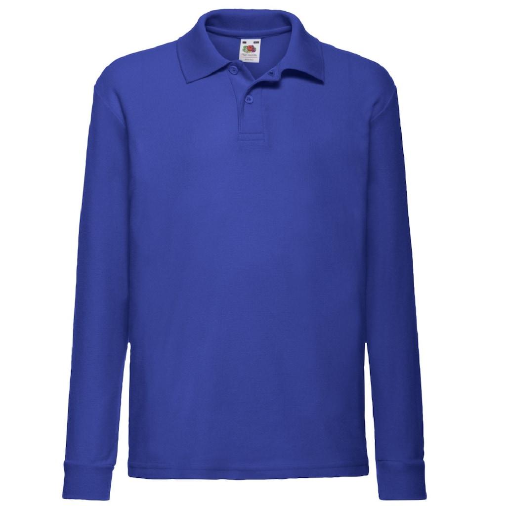 Fruit of the Loom Poloshirt »Kinder Polo Shirt, Langarm (2 Stück/Packung)«