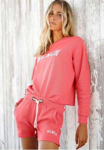 Bench. Sweatshirt, in Cropped-Form mit Logostickerei kaufen