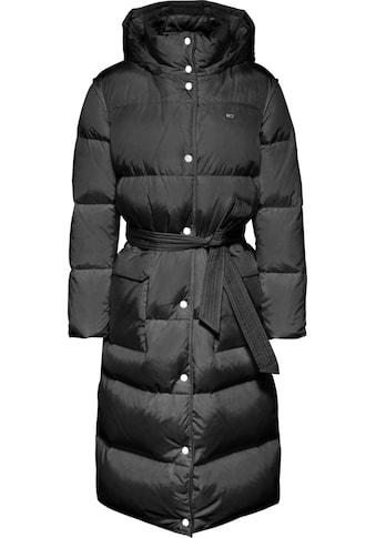 Tommy Jeans Steppmantel »TJW LONGLINE BELTED COAT«, mit großen Taschen & Bindegürtel kaufen