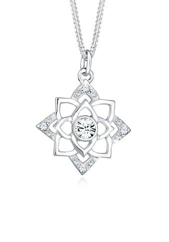 Elli Collierkettchen »Geburtsstein Lotus Swarovski® Kristalle 925 Silber« kaufen