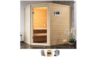 Karibu Sauna »Juli«, 4,5-kW-Ofen mit ext. Steuerung kaufen