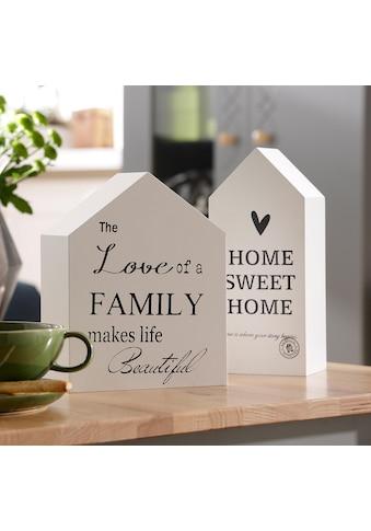 Home affaire Dekoobjekt »Häuser« (Set, 2 Stück) kaufen