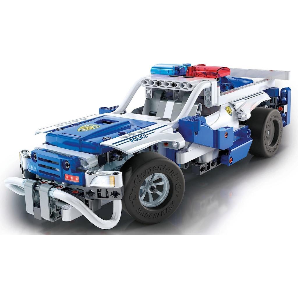 Clementoni® Modellbausatz »Galileo Construction Challenge - Polizeifahrzeuge«, mit Fernsteuerung und kostenloser App; Made in Europe