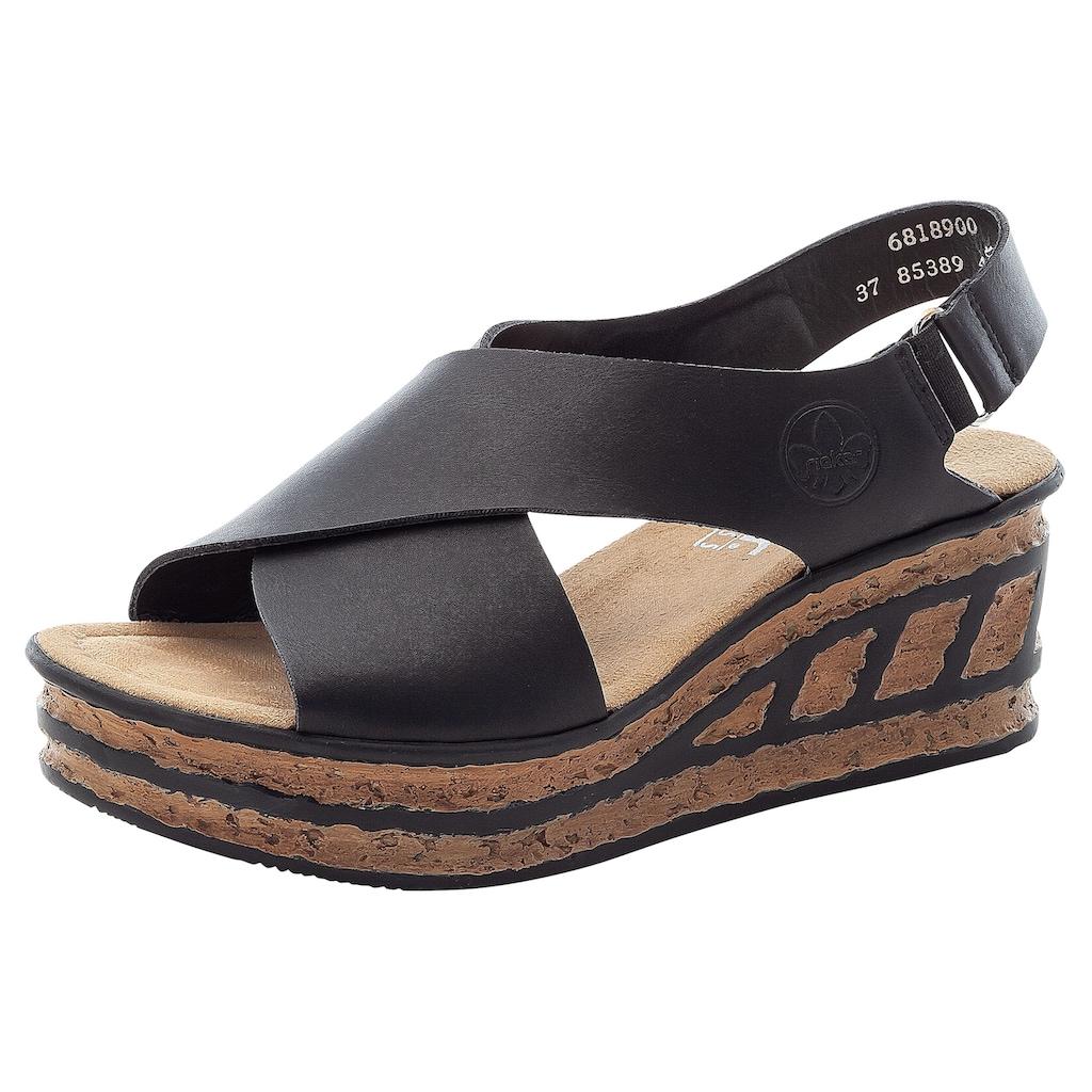 Rieker Sandalette, mit Klettverschluss-Riemchen
