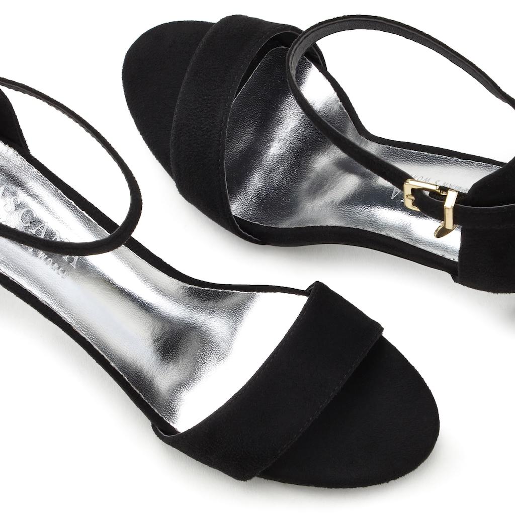 LASCANA Sandalette, im modischem Design und kleiner Schnallenverzierung