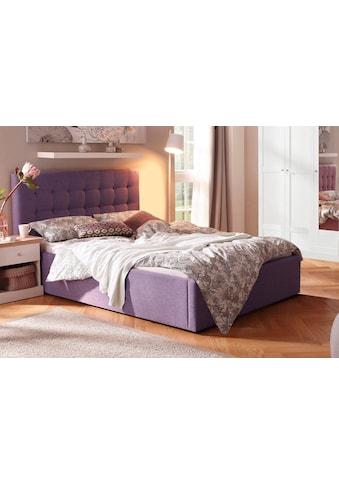 Home affaire Polsterbett »Hamar«, mit schöner Knopfheftung im Kopfteil, in 3 Größen und 2 Farben kaufen