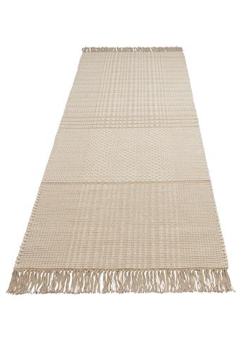 Leonique Läufer »Indira«, rechteckig, 12 mm Höhe, mit Fransen kaufen