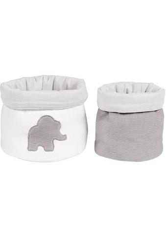 Nattou Aufbewahrungskorb »Tembo Elefant Babykörbe«, (Set, 2 St.) kaufen