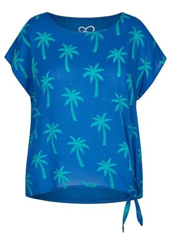VIA APPIA DUE Modische Bluse mit Allover - Palmen - Print kaufen