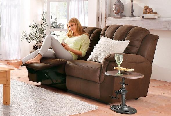 2-Sitzer-Relaxsofa in Braun