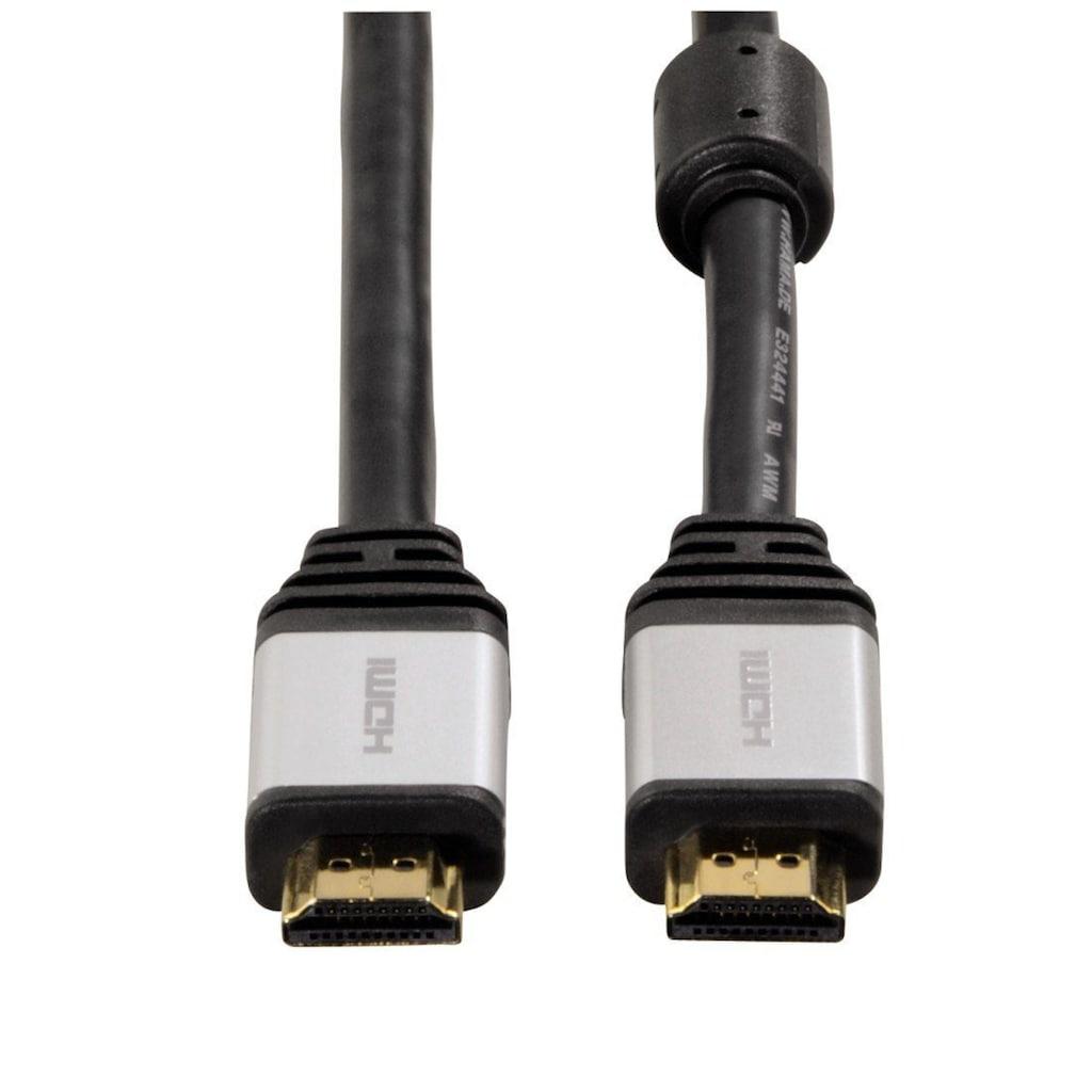 Hama High Speed HDMI-Kabel, Ethernet, 24K-vergoldet, doppelt