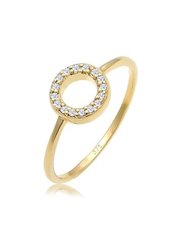 Diamore Diamantring »Kreis Geo Diamant Verlobung 0.08 ct. 375 Gelbgold« kaufen