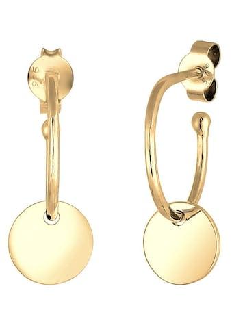 Elli Paar Ohrstecker »Hänger Kreis Creole Geo Plättchen, 0301763017« kaufen