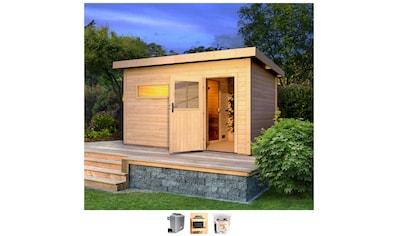 Karibu Saunahaus »Uwe 3«, 9-kW-Ofen mit ext. Steuerung kaufen