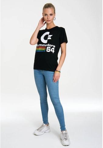 LOGOSHIRT T-Shirt »Commodore C64«, mit lizenziertem Originaldesign kaufen