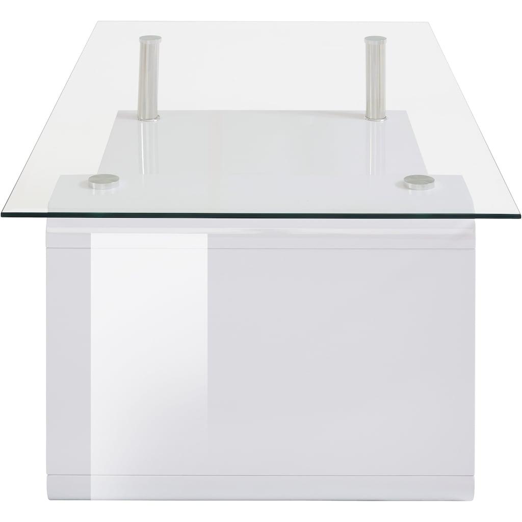 Paroli Couchtisch, mit Glasplatte