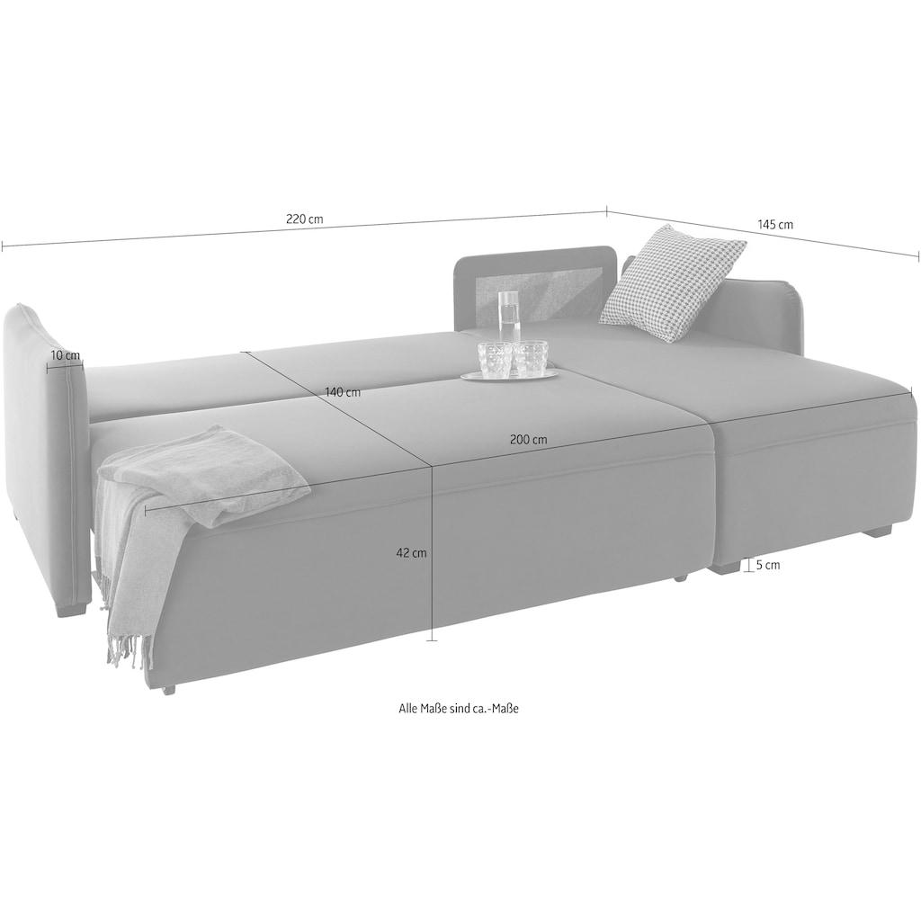 Guido Maria Kretschmer Home&Living Ecksofa, inklusive Bettfunktion, Bettkasten und Federkern
