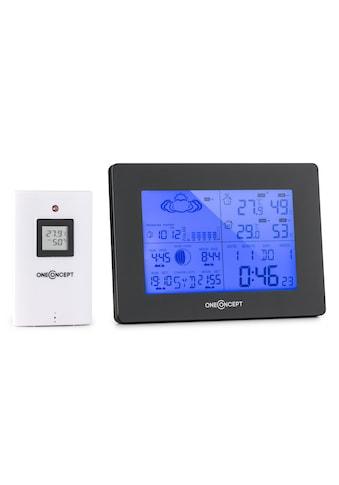 ONECONCEPT Funk - Wetterstation Batteriebetrieb Alarm inkl. Außensensor »Bergen« kaufen