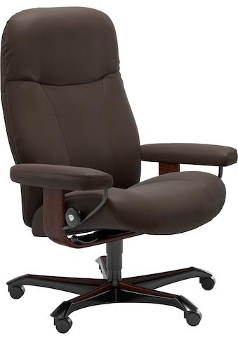 Stressless® Relaxsessel »Garda«, mit Home Office Base, Größe M, Gestell Braun kaufen