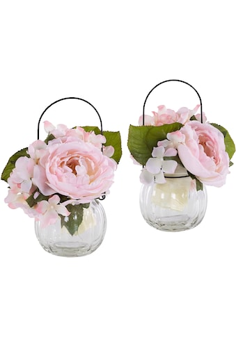 I.GE.A. Kunstpflanze »Rosen im Glas« kaufen