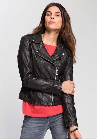 DSCVR Bikerjacke »Lilly«, Typische Biker-Form mit Schulterklappen kaufen