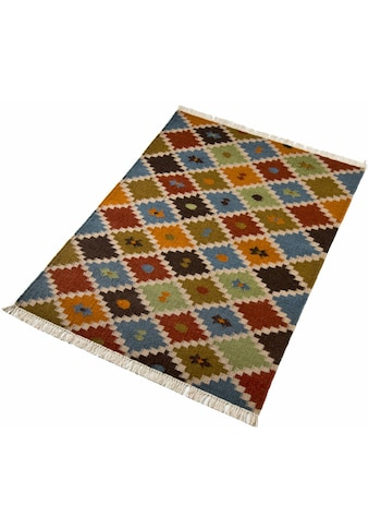 Wollteppich, »Kite«, Home affaire, rechteckig, Höhe 5 mm, handgewebt kaufen