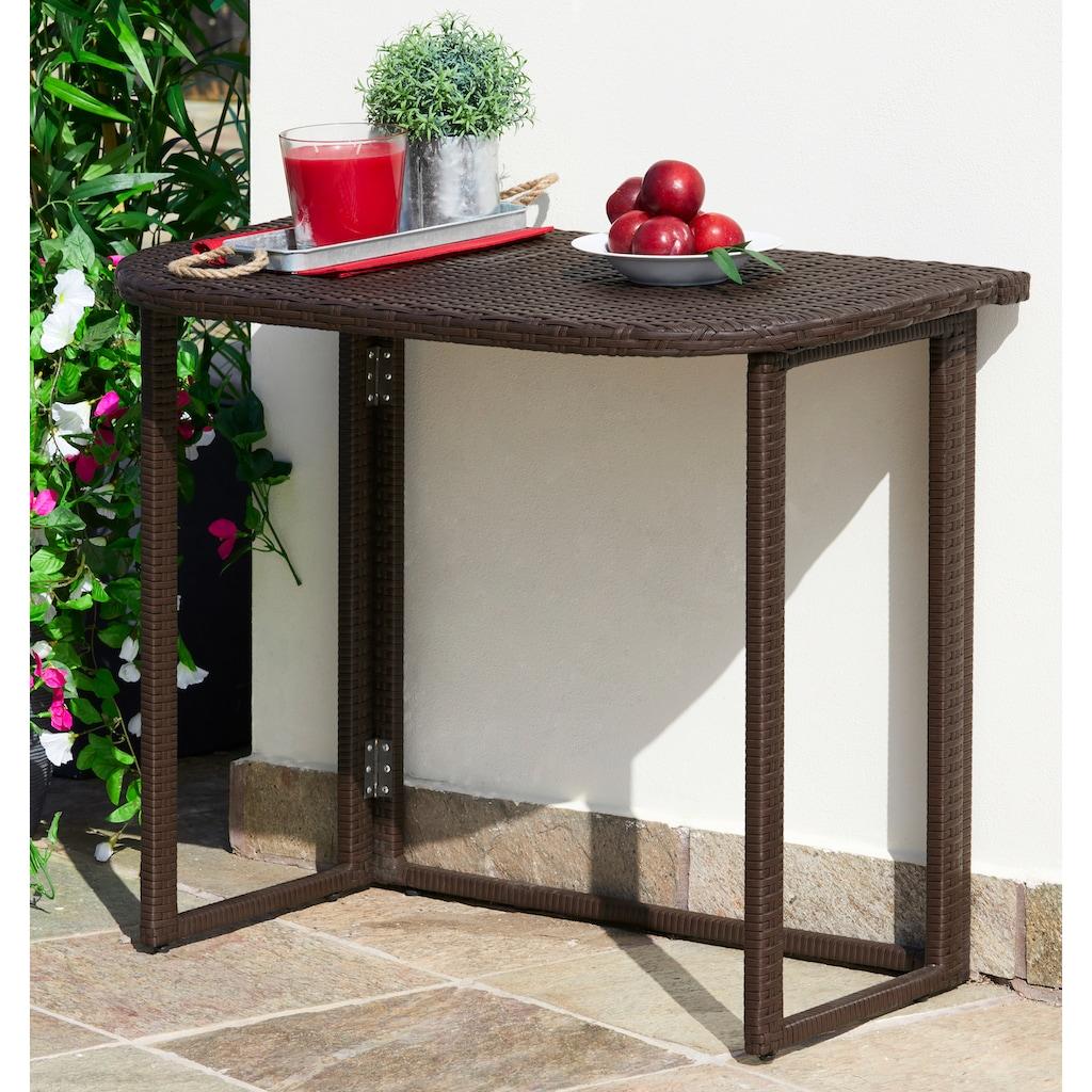 MERXX Gartentisch »Rattan«, 50x90 cm