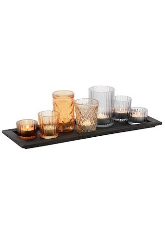 my home Teelichthalter »Tablett mit 7 Gläsern« kaufen