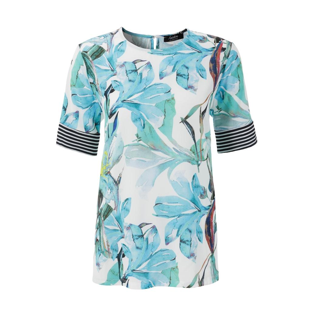 Aniston SELECTED Shirtbluse, mit gestreiften Einsätzen