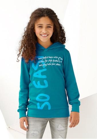 KIDSWORLD Kapuzenshirt »so easy«, in längerer Form kaufen