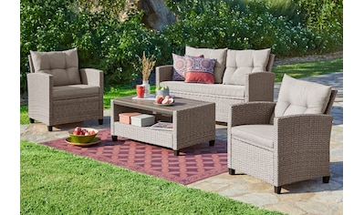 KONIFERA Loungeset »Lorca«, 12 - tlg., 2 - er Sofa, 2 Sessel, Tisch 90x55 cm, Polyrattan kaufen