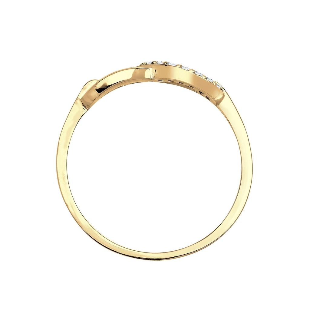 Elli Premium Diamantring »Infinity - Unendlichkeitsschleife, 0603822714«, mit funkelnden Brillanten