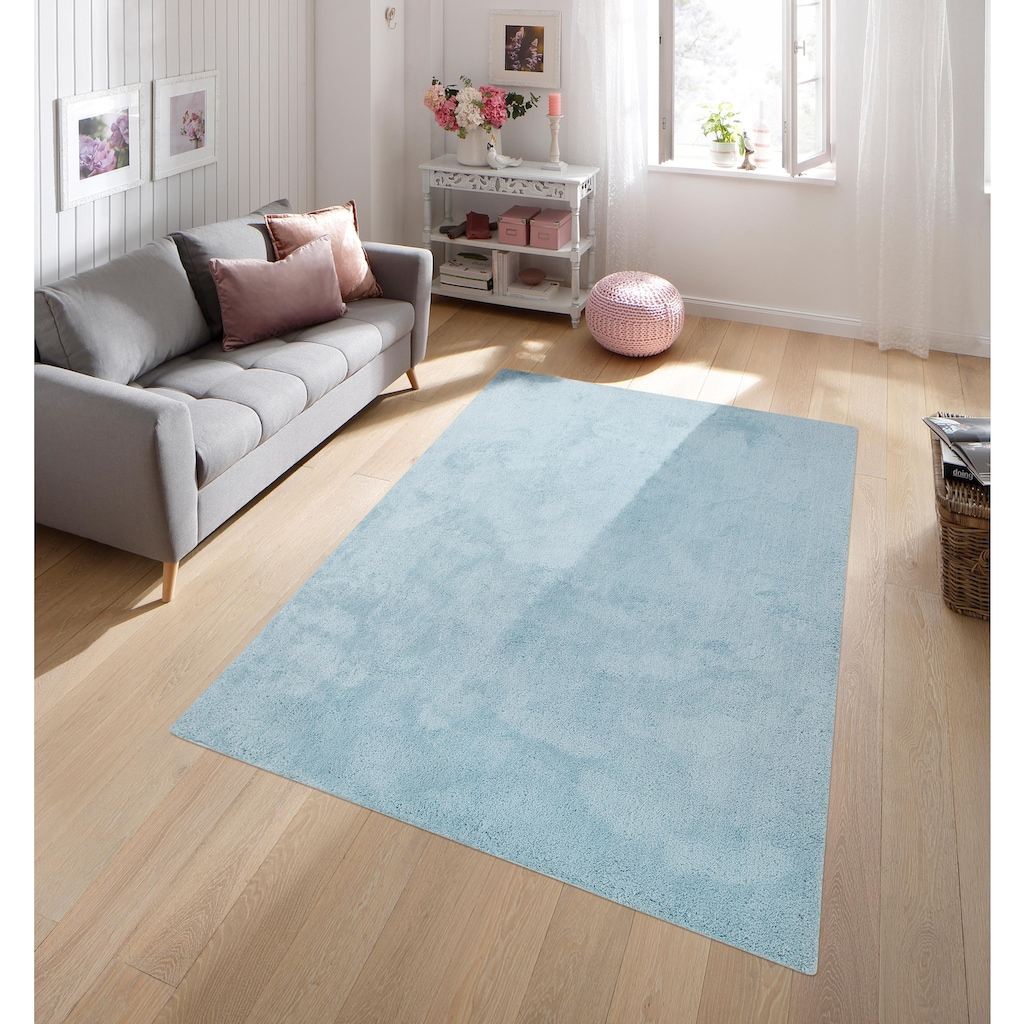 andas Teppich »Taruk«, rechteckig, 20 mm Höhe, Pastell-Farben, Wohnzimmer
