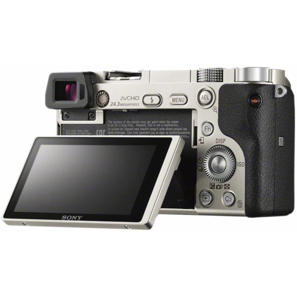 Sony Systemkamera »Alpha ILCE-6000L«, SEL-P1650, 24,3 MP, WLAN (Wi-Fi)-NFC, Gesichtserkennung, HDR-Aufnahme, Makroaufnahme