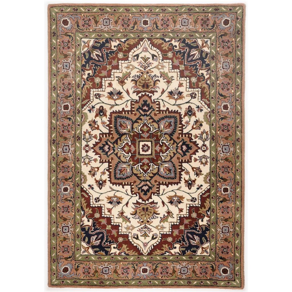 THEKO Wollteppich »Royal Heriz«, rechteckig, 14 mm Höhe, reine Wolle, Orient-Optik, Wohnzimmer