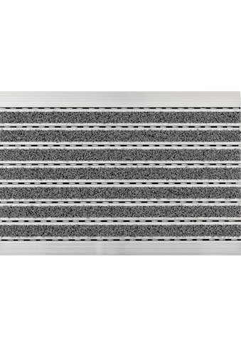 ASTRA Fußmatte »Scraper«, rechteckig, 10 mm Höhe, Schmutzfangmatte, mit Aluminiumrahmen kaufen