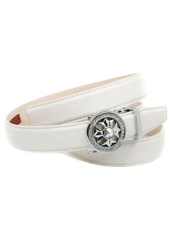 Anthoni Crown Ledergürtel, 2,4 cm femininer Ledergürtel in weiß kaufen