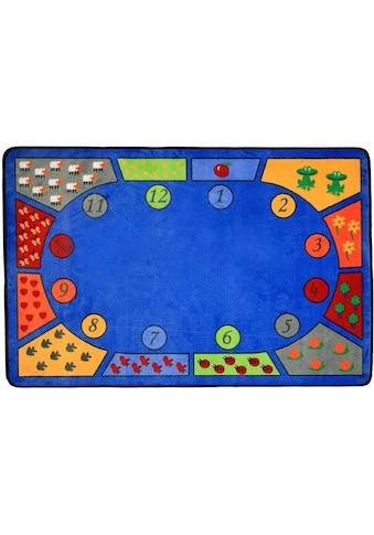 Primaflor-Ideen in Textil Kinderteppich »BILDER & ZAHLEN«, rechteckig, 5 mm Höhe,... kaufen