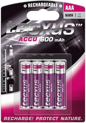 tecxus Batterie »Akku, 4-er Pack«, (4 St.), Tecxus Micro AAA (1,2V, 600mAh) kaufen