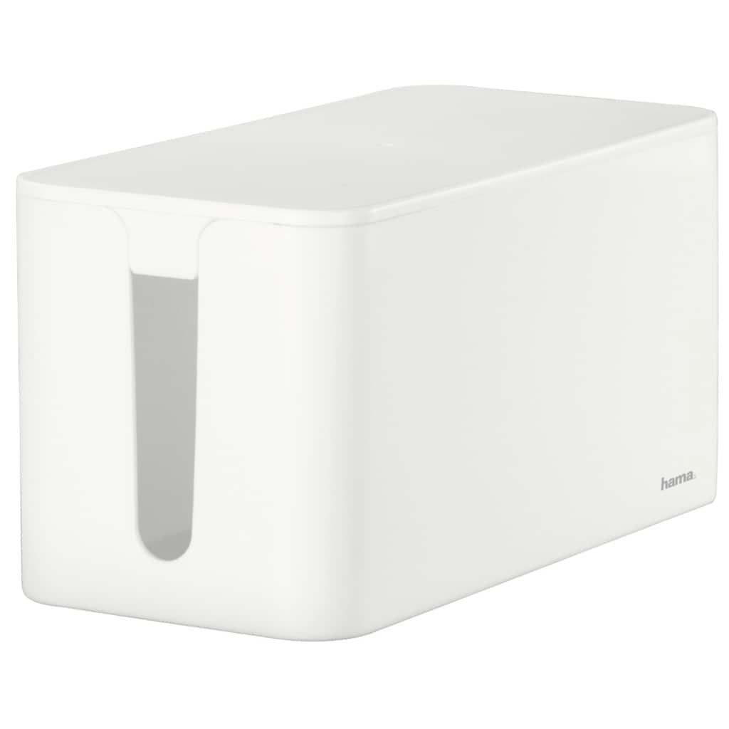 Hama Kabelbox Mini, 23,5 x 11,5 x 12 cm, Weiß