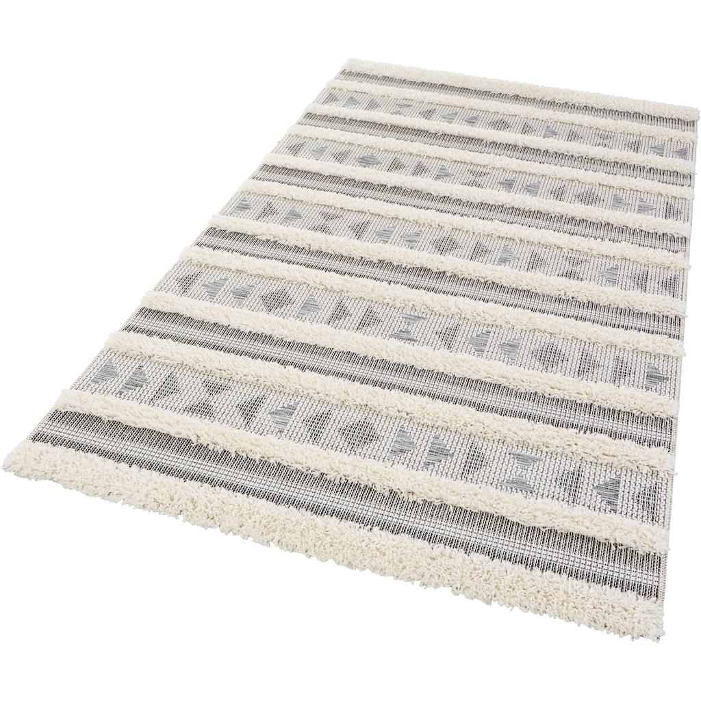 MINT RUGS Teppich »Azrou«, rechteckig, 35 mm Höhe, In- und Outdoor geeignet, Hoch-Tief-Struktur, Wohnzimmer