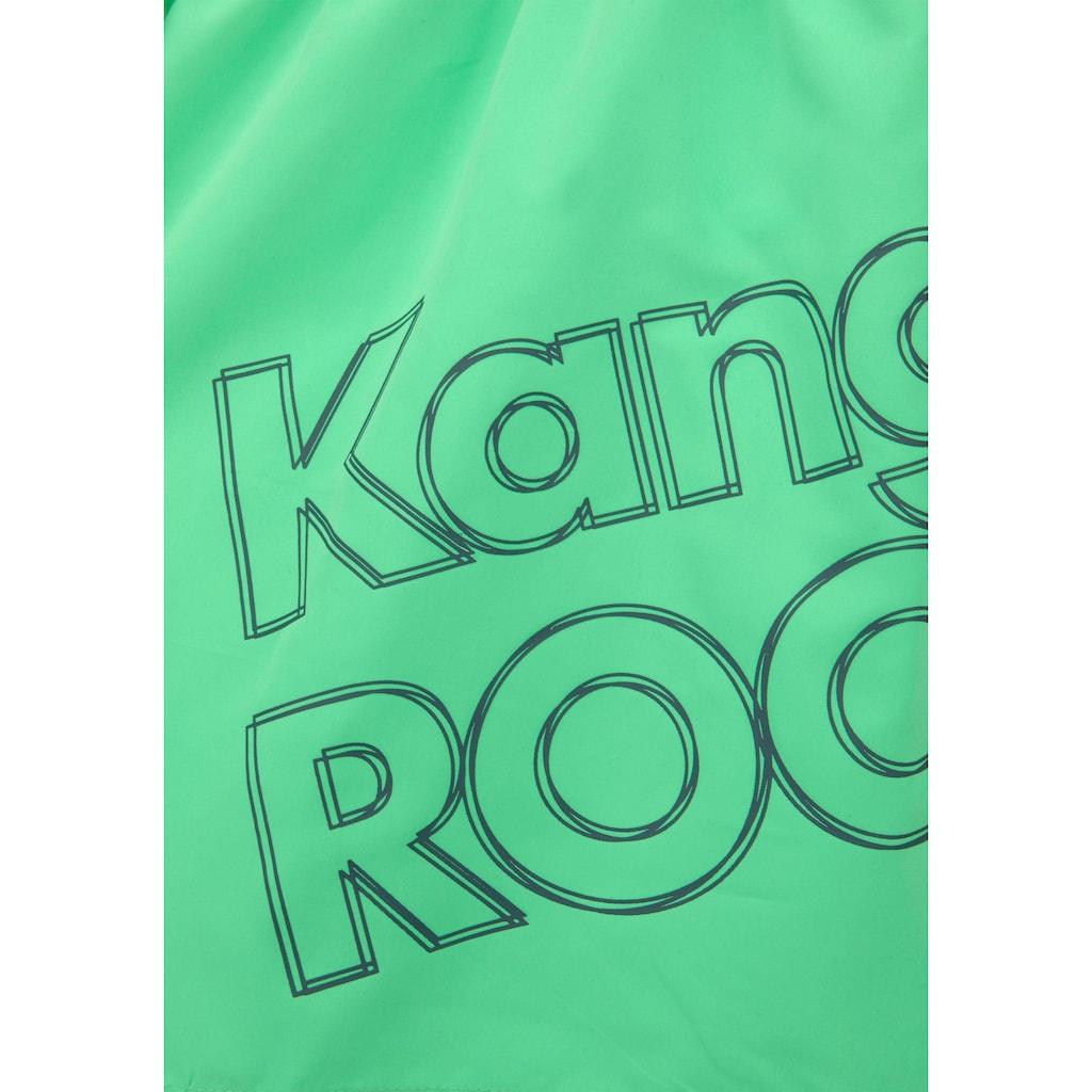 KangaROOS Badeshorts, mit großem Logoschriftzug