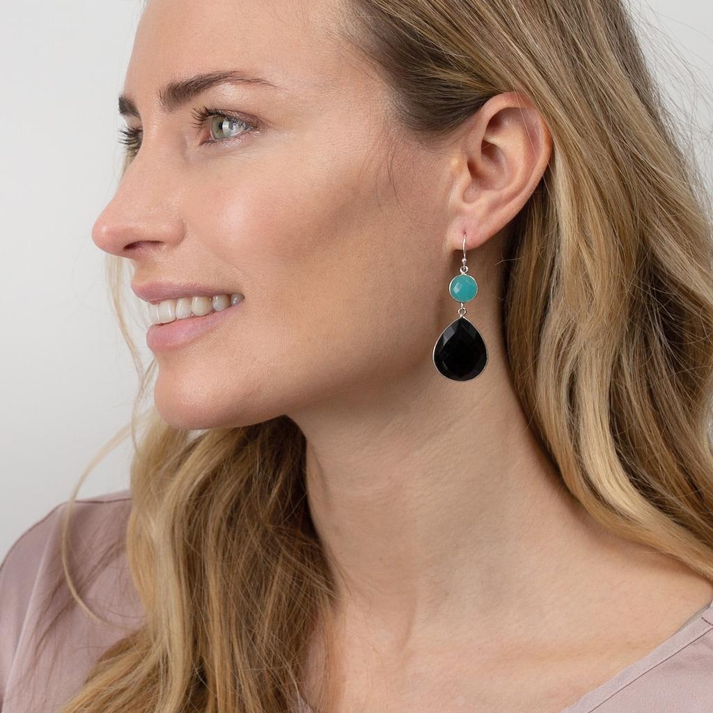 AILORIA Paar Ohrhänger »AZALÉE Ohrringe«, mit Aqua Chalcedon und Onyx