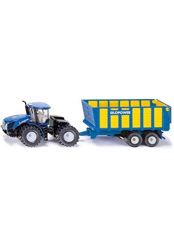 "Siku Spielzeug - Traktor ""SIKU Farmer, New Holland T mit Silagewagen"" kaufen"