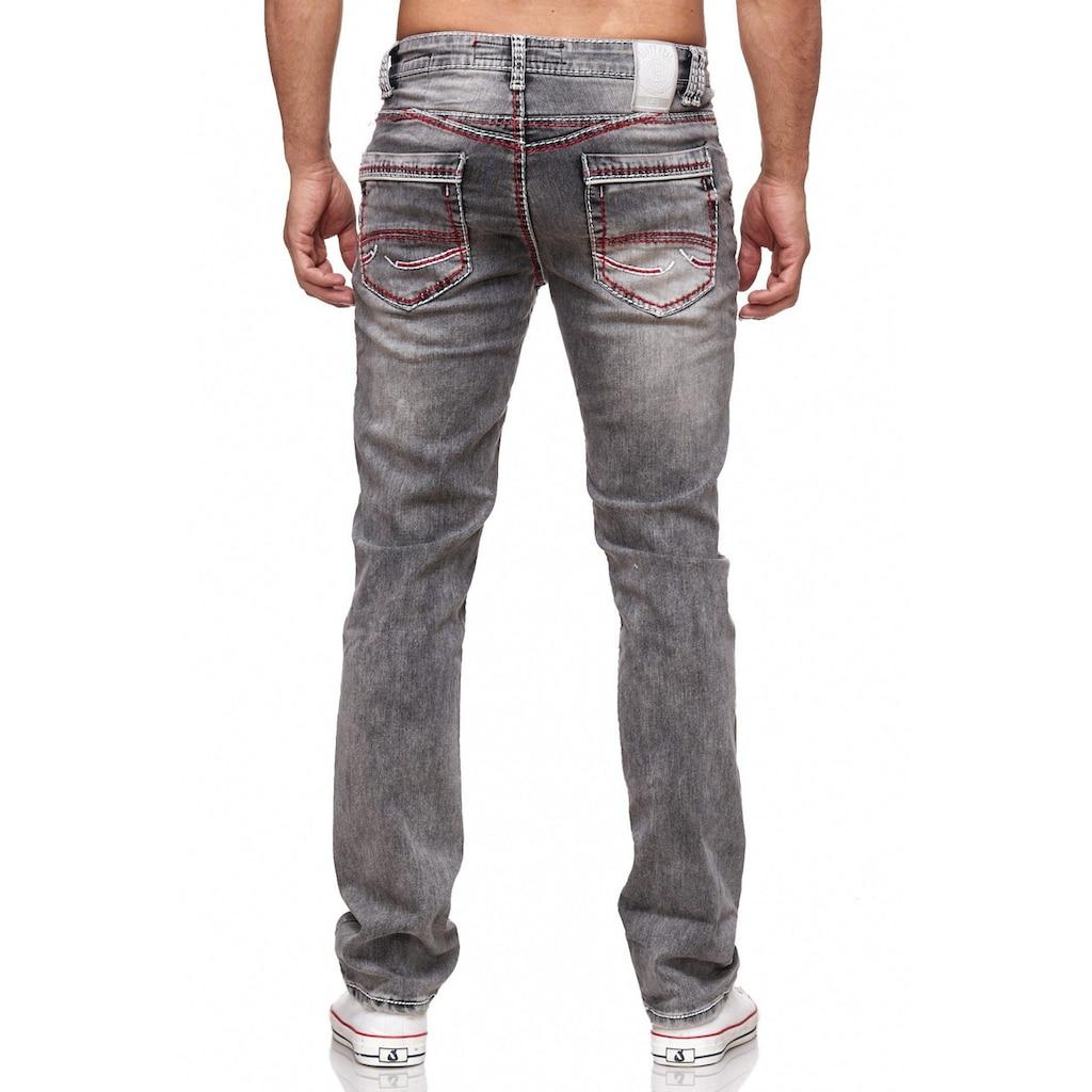 Rusty Neal Jeans mit farblich abgesetzten Nähten