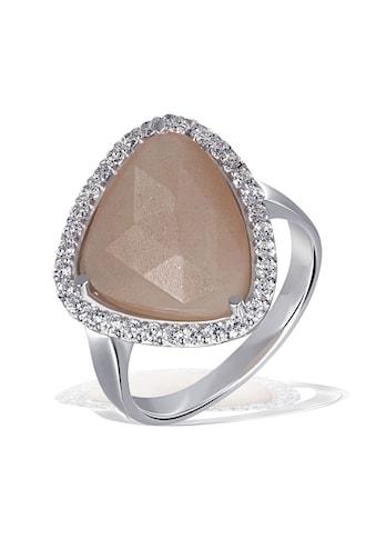 goldmaid Silberring, 925/- Silber 1 Mondstein 32 weiße Zirkonia kaufen