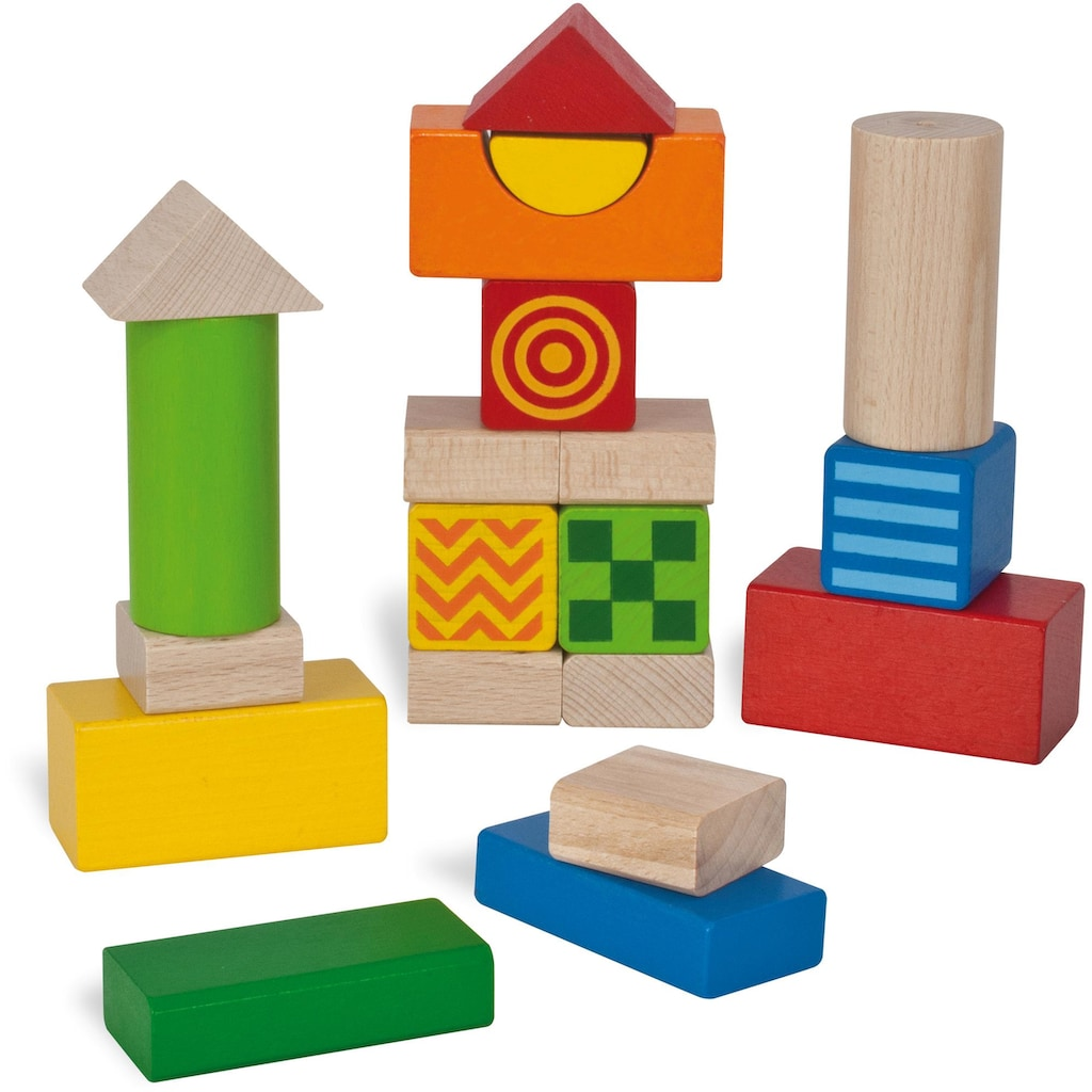 Eichhorn Spielbausteine »Baby Fühl- und Klangbausteine«, (20 St.), Made in Germany, FSC®-Holz aus gewissenhaft bewirtschafteten Wäldern