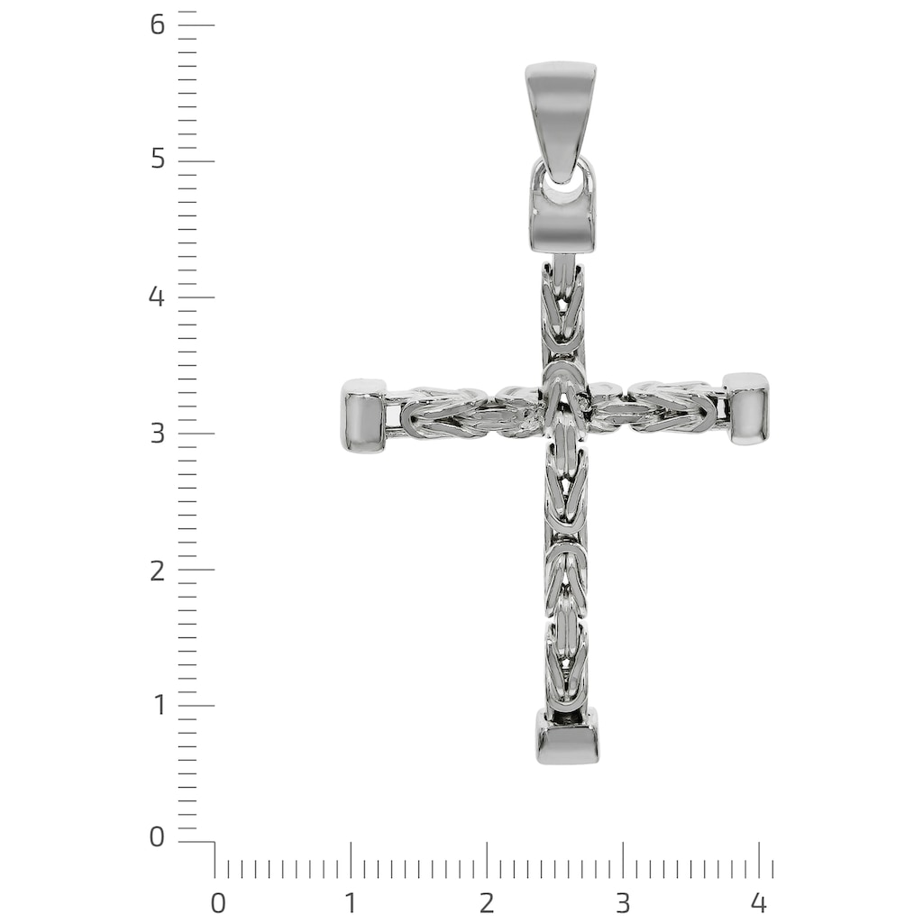 Firetti Kreuzanhänger »in Königsketten-Optik, 52 mm lang, 4-kant, Glanz«, Made in Germany