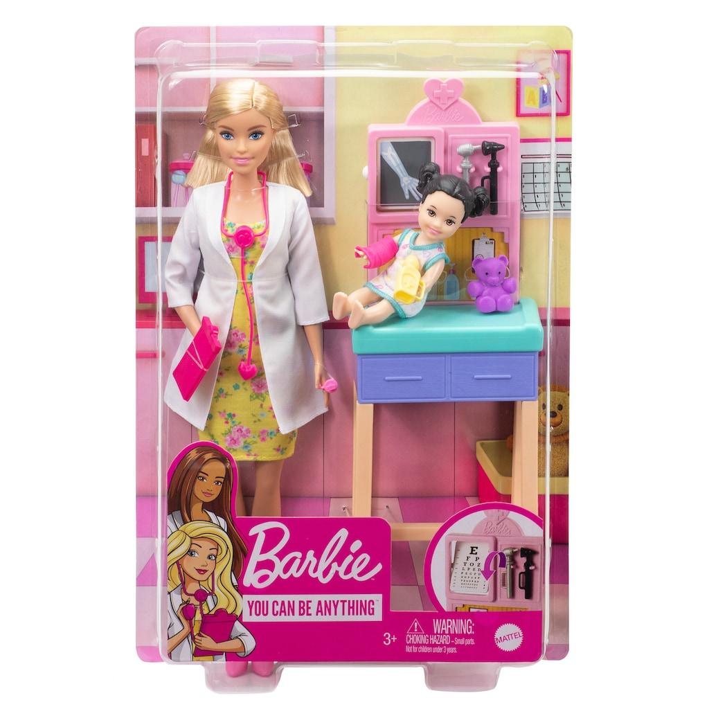 Barbie Anziehpuppe »Kinderärztin, blond«, (Set)